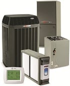 Trane furnace and air conditioner